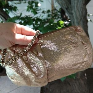 EXPRESS | Rose Gold Shimmery Clutch Pouch Wristlet